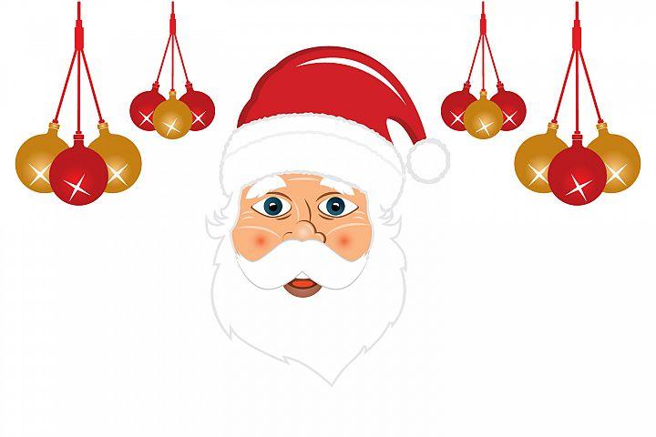 Modern Santa Claus vector illustration.