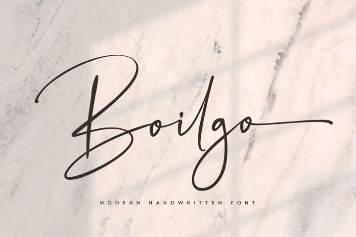 Boilgo - Luxury Signature Font