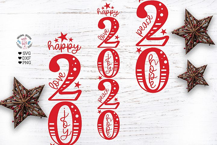 Happy 2020 Vertical SVG