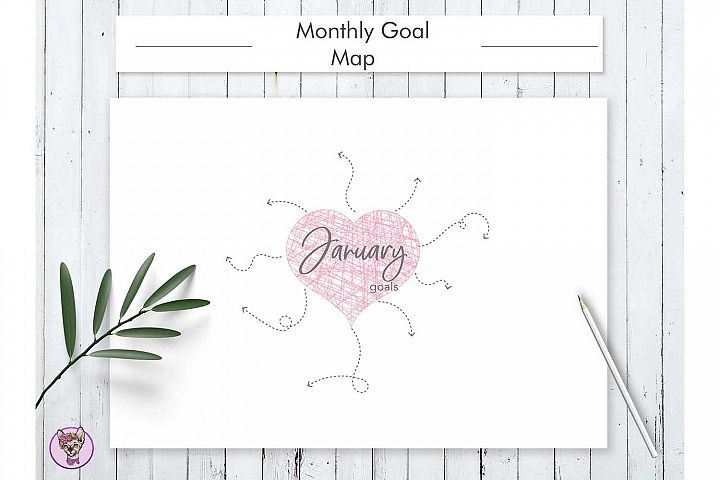 Monthly Goal Map Printable