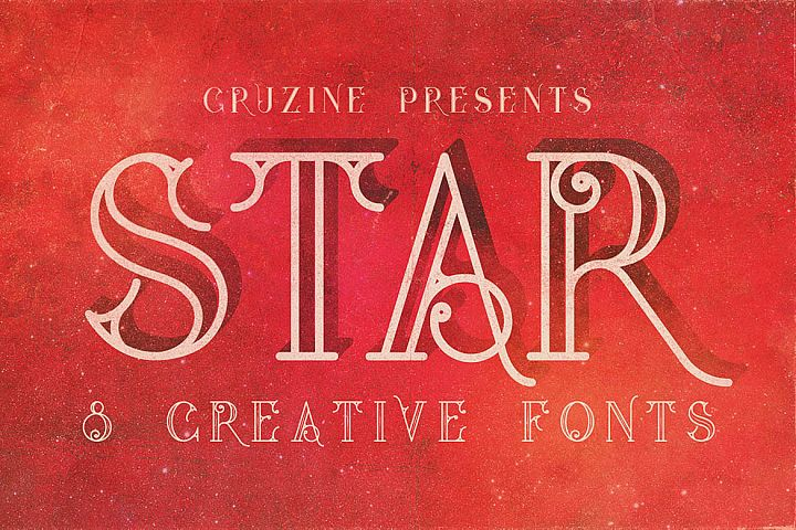 Star Typeface example image 1