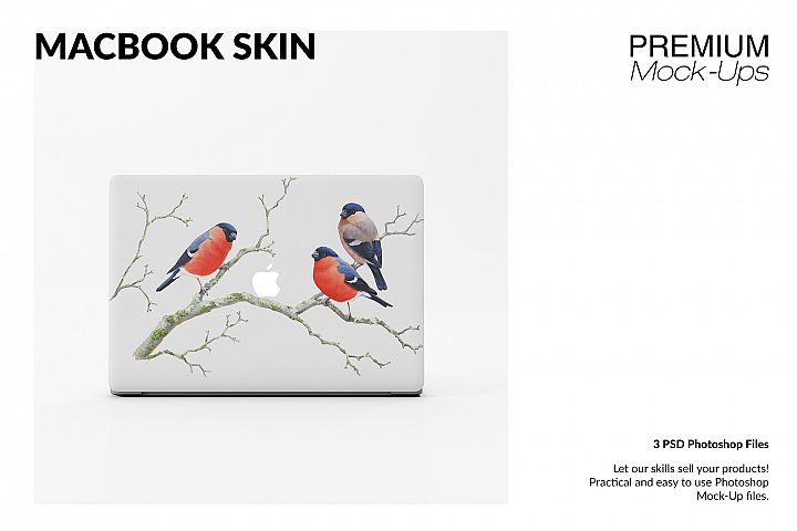 MacBook Skin Mockup Set