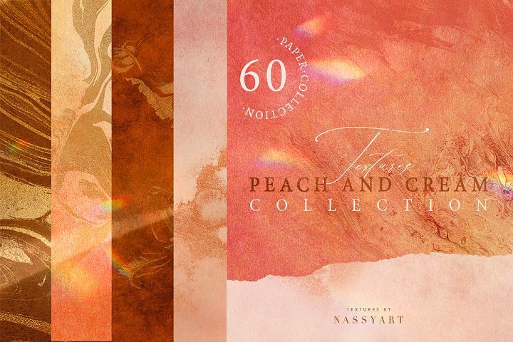 60 Peach and Cream Textures