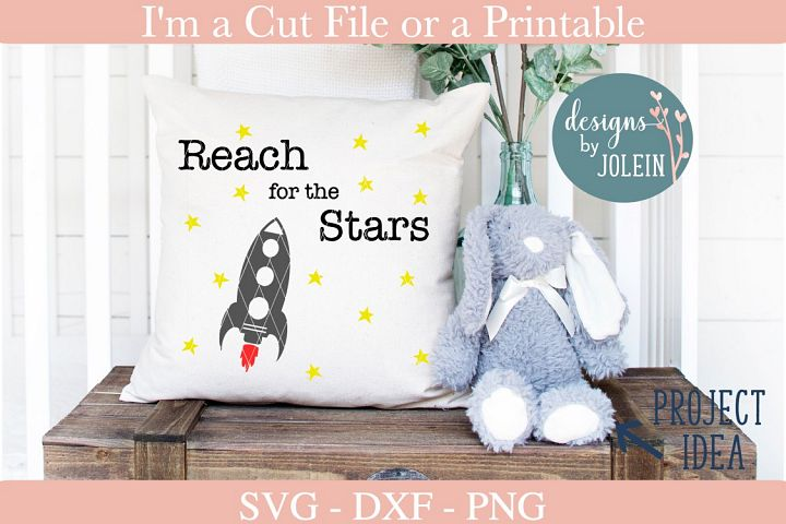 Reach for the Stars SVG, PNG, DXF