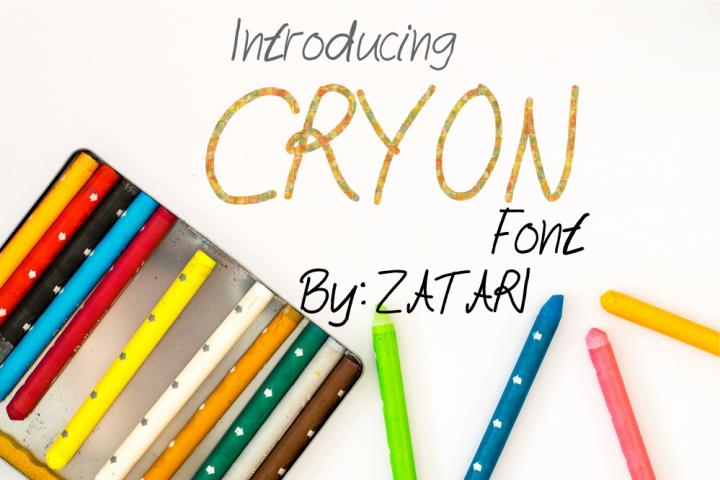 Cryon fonts