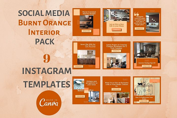 Instagram Post Template- Fall themed Interior & Real Estate