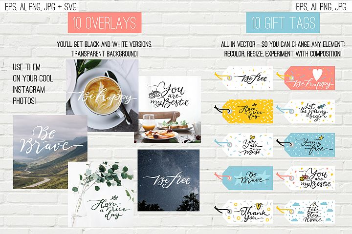 10 overlays, cards and tags example 2