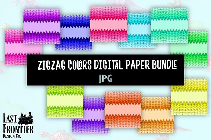 ZigZag colors digital paper bundle