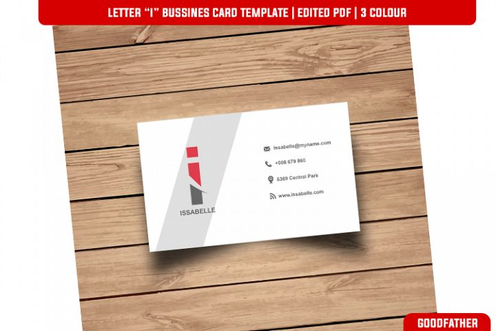 Letter I Creative Bussines Card Template