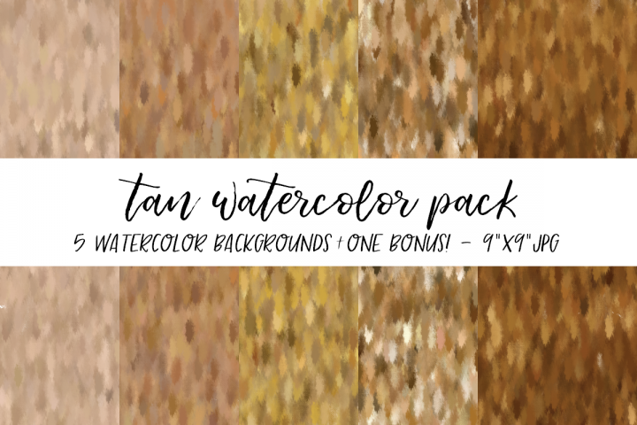 Tan Watercolor Backgrounds