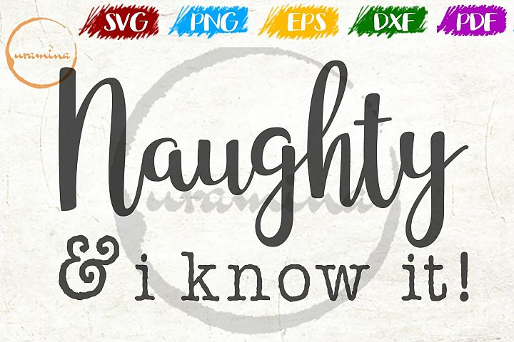 Naughty And I Know It Christmas SVG PDF PNG