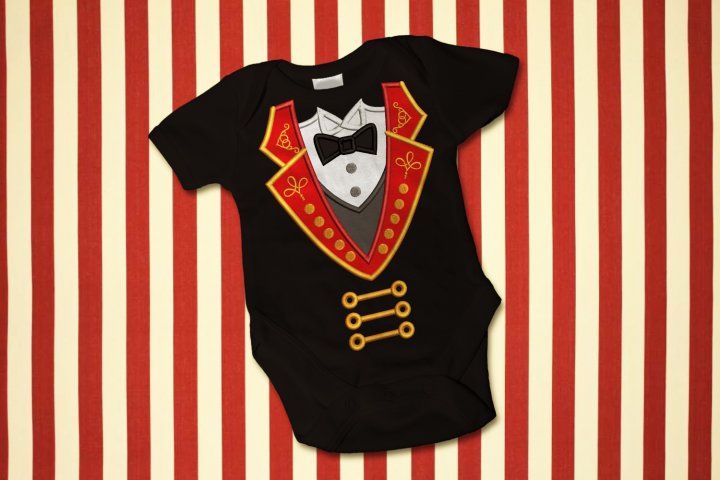 Circus Ringmaster Coat and Tuxedo Applique Embroidery