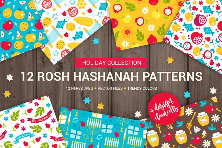 12 Rosh Hashanah Patterns & Bonus Elements