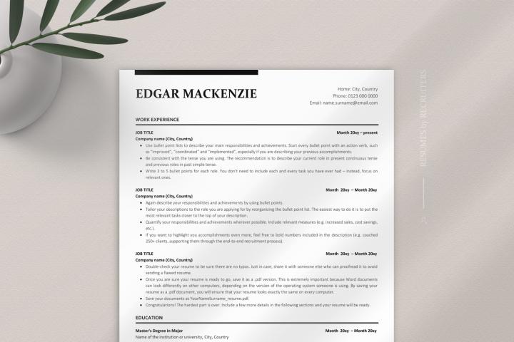 Professional ATS Resume Template, ATS-optimized CV Design