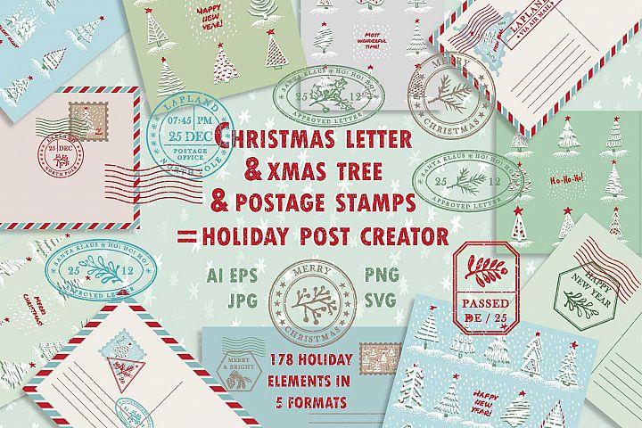 Christmas post creator