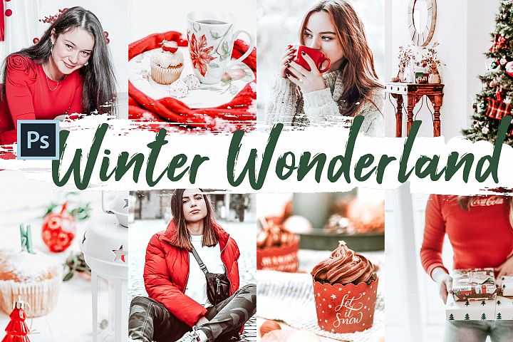 10 Winter Wonderland Photoshop Actions, ACR and LUT presets