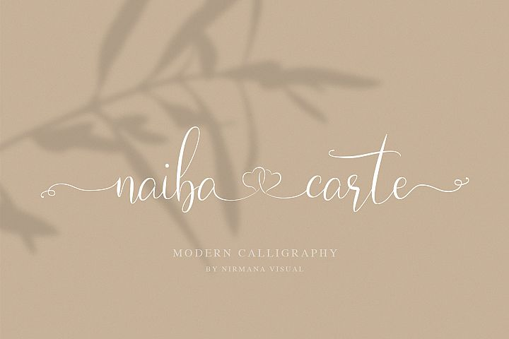 Naibacarte - Lovely Font