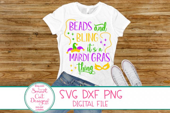 Beads And Bling Its AMardi Gras Thing Svg, Mardi Gras Mask