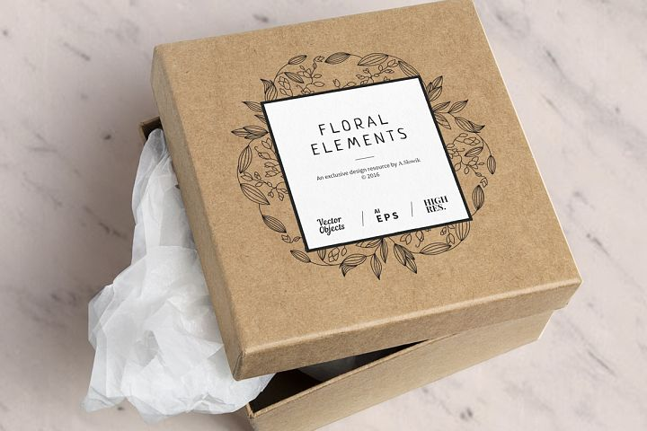 12 Floral design elements/ Pro