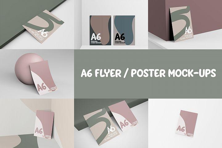 A6 FLYER / POSTER MOCKUPS