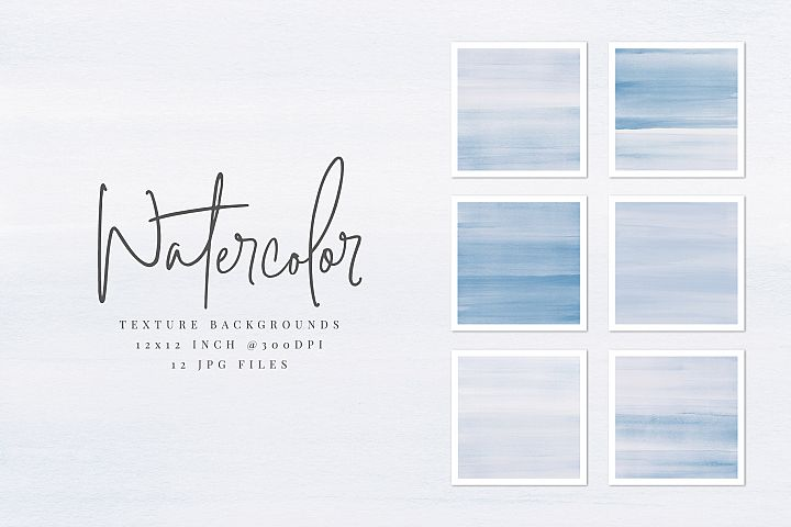 Blue Watercolor Texture Backgrounds
