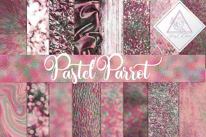 Pastel Parrot Digital Paper