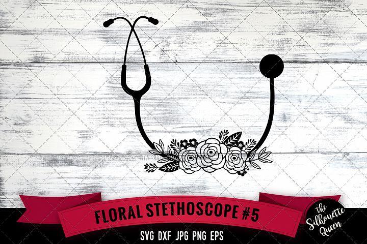 Floral Doctor Tools 5 Svg Cut File