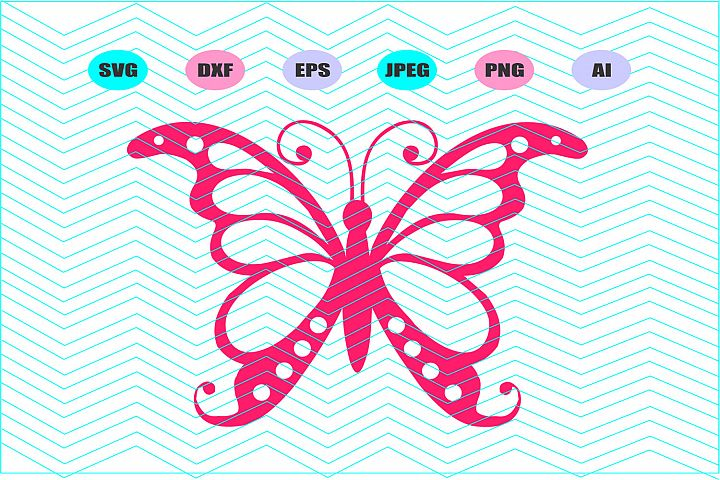 Butterfly Svg Dxf Eps Png Jpg Ai Cut Vector File Vinyl Decal