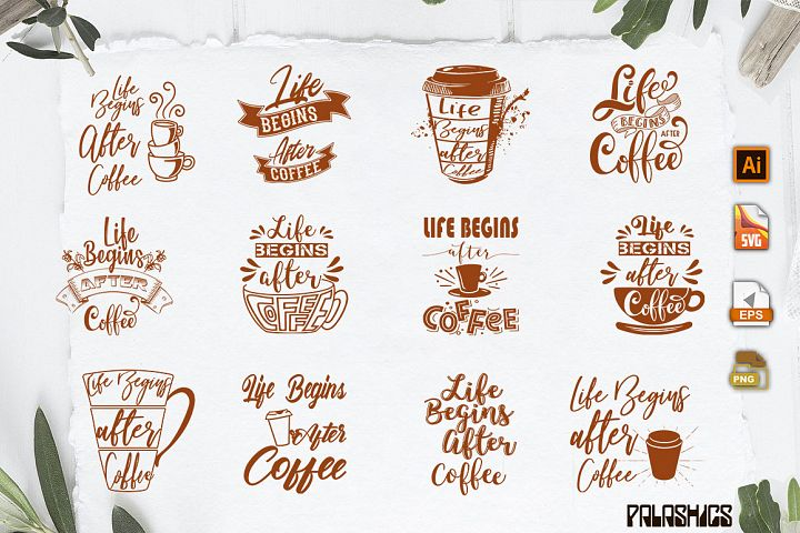 Coffee SVG one Quote 12 designs