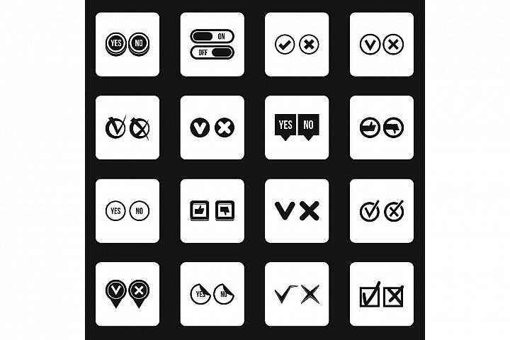 Check mark icons set squares vector