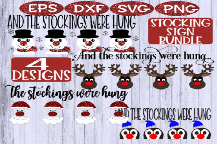 Christmas, Christmas BUNDLE, Christmas Stocking Holder Sign
