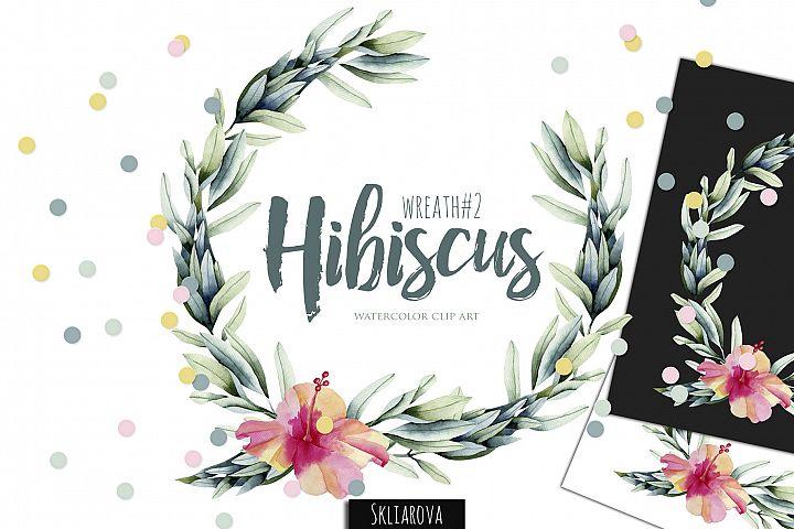 Hibiscus. Wreath #2