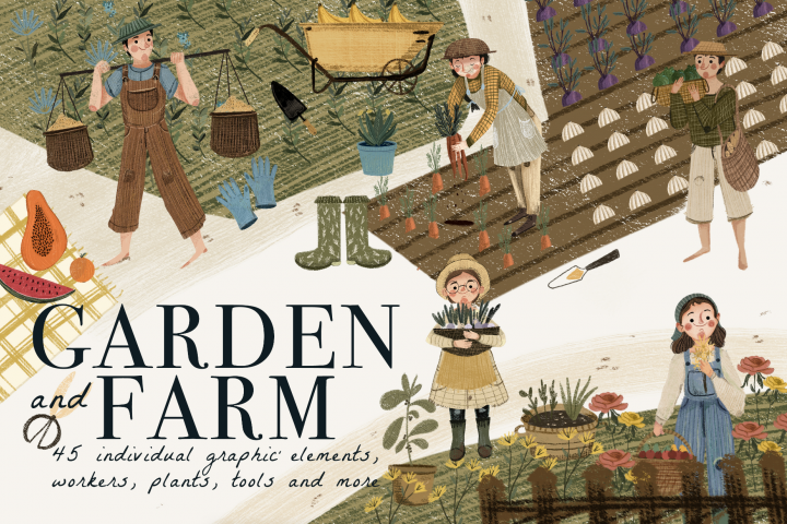 Garden and Farm Clip art