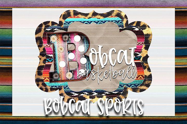 Bobcat Basketball Sublimation PNG