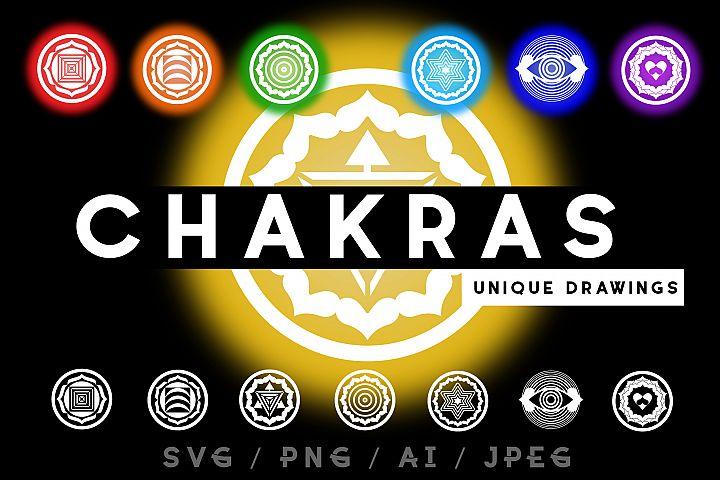 Chakras. Unique drawing