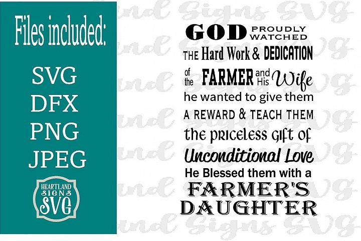 God Made A Farmer Daughter SVG