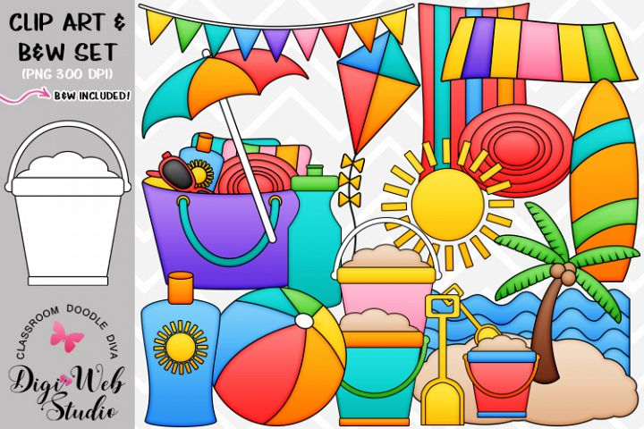 Clip Art / Illustrations - Beach Stuff