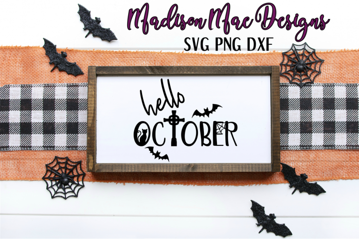 Hello October SVG | Halloween Digital Cut File
