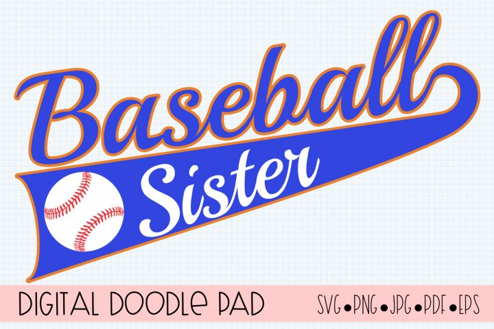 Baseball Sister SVG | Silhouette and Cricut Cut File