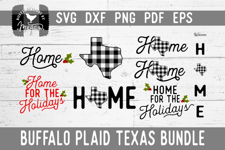 Texas Buffalo Plaid Bundle SVG DXF Cut File