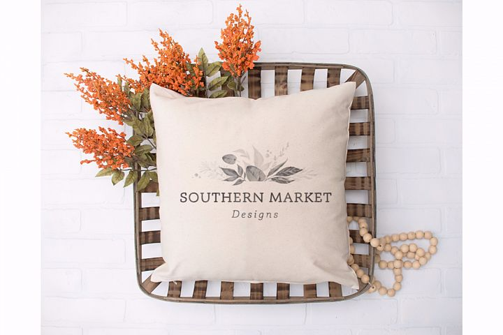 Fall Blank Pillow Mock Up Photo Stock Photography