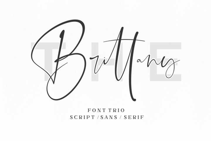 The Brittany // Font Trio