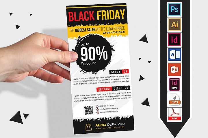 Rack Card | Black Friday DL Flyer Vol-03