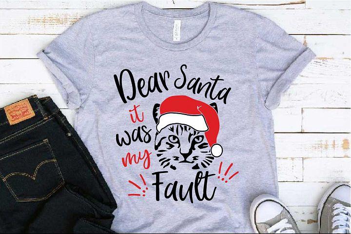 Dear Santa It was Cats Fault SVG Farm kitty hat 1100S