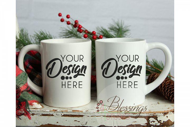 Winter Mug Mockup Coffee Mug mockup Christmas Front and Back