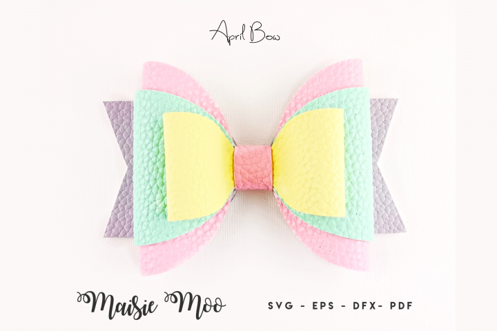 Bow Template, Faux Leather Bow SVG, Easter Bow SVG,