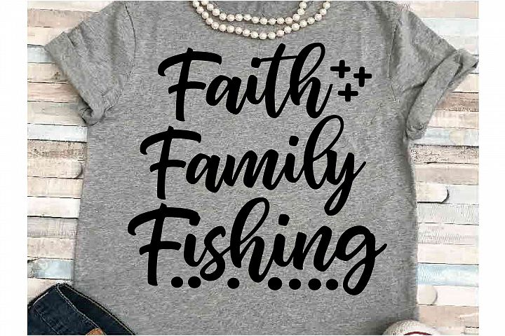 Faith svg DXF JPEG Silhouette Cameo Cricut friends fishing