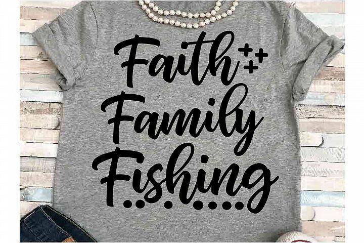 Faith svg DXF JPEG Silhouette Cameo Cricut friends fishing