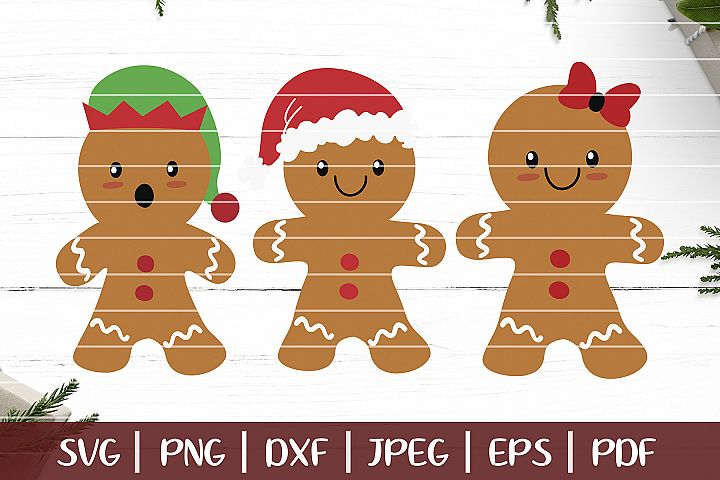 Gingerbread SVG, Christmas Gingerbread Man Cut Files