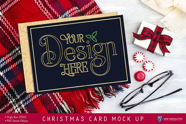 Christmas Card, Stationery Mock Up